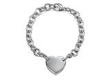 "Sterling Silver 8"" Heart Charm Bracelet"