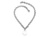"Sterling Silver 16"" Round Charm Necklace"