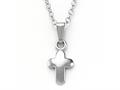 925 Sterling Silver Childrens Baby Cross Pendant on 12 Inch Chain