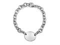Sterling Silver 8 inches Oval Charm Bracelet