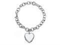 Sterling Silver 8 Inch Heart Charm Bracelet