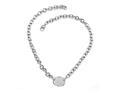 Sterling Silver 18 inches Oval Charm Necklace