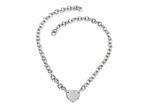 Sterling Silver 16 inches Heart Charm Necklace Style number: 50DB900