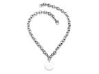 Sterling Silver 16 inches Round Charm Necklace Style number: 50DB903