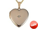 Medium Heart Locket Pendant With Diamond