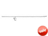 "925 Sterling Silver Childrens 6.5 Inch Letter ""C"" Charm Bracelet with Diamond style: 503368"