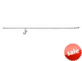 "925 Sterling Silver Childrens 6.5 Inch Letter ""J"" Charm Bracelet with Diamond style: 503370"