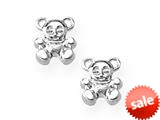 925 Sterling Silver Childrens Teddy Bear Earrings