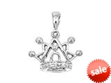 925 Sterling Silver Childrens Crown Pendant on 14 Inch Chain style: 503413