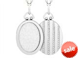 Sterling Silver Oval Picture Charm Pendant style: 503435