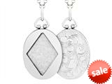Sterling Silver Oval Picture Charm Pendant style: 503437