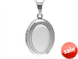 Sterling Silver Adult Oval Locket Pendant style: 503439