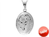 Sterling Silver Adult Heart Shaped Locket Pendant style: 503440