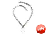 Sterling Silver 16 inches Round Charm Necklace