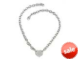 Sterling Silver 18 inches Round Charm Necklace