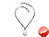 Sterling Silver 18 inches Heart Drop Charm Necklace style: 50DB952