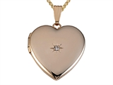 Large Heart Locket Pendant With Diamond