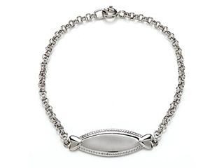 Sterling Silver Children ID Bracelet