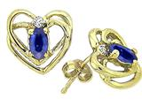 Tommaso Design™ Oval 5x3mm Genuine Sapphire Earrings