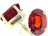 Tommaso Design Oval 9x7 mm Genuine Garnet Earrings