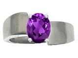 Tommaso Design™ Genuine Amethyst Ring