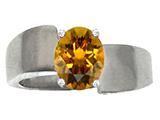 Tommaso Design™ Oval 9x7mm Genuine Citrine Ring
