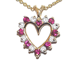 Tommaso Design™ Ruby Heart Shaped Pendant style: 22659