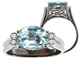 Tommaso Design™ Large Aquamarine Ring