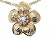 Genuine Diamond Flower Pendant