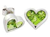 Tommaso Design Genuine Invisible Set Peridot Earrings