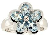 Tommaso Design Genuine Aquamarine Ring