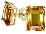 Tommaso Design™ Emerald Cut 8x6mm Genuine Citrine Earrings