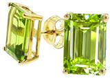 Tommaso Design Genuine Emerald Cut Peridot Earrings