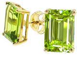 Tommaso Design™ Genuine Emerald Cut Peridot Earrings style: 23491