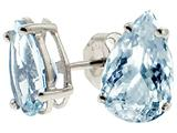 Tommaso Design Genuine Aquamarine 8x5mm Pear Shape Earrings