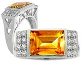 Tommaso Design Genuine Citrine Ring