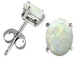 Tommaso Design Oval 7x5 mm Genuine Opal Earrings