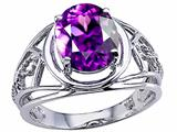 Tommaso Design™ Large Oval Genuine Amethyst Ring.
