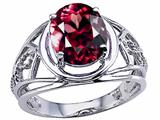 Tommaso Design™ Oval 10x8 mm Genuine Large Garnet Ring