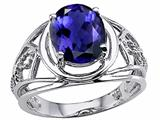 Tommaso Design™ Oval 10x8 mm Genuine Large Iolite Ring