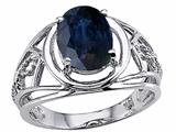Tommaso Design™ Genuine Large Oval Sapphire Ring