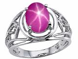 Tommaso Design Created Star Ruby Ring.