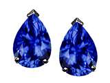 Tommaso Design™ Pear Shape 8x6mm Created Sapphire Earring Studs