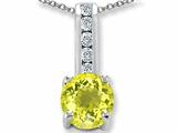 Original Star K Round 7mm Simulated Yellow Sapphire Pendant