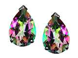 Tommaso Design™ Pear Shape Rainbow Mystic Topaz Earrings Studs style: 25799