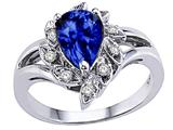 Tommaso Design™ Pear Shape 8x6 mm Created Sapphire Ring style: 25910