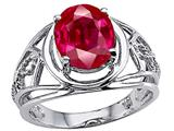 Tommaso Design Large Oval Created Ruby Ring.