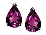 Tommaso Design Pear Shape 8x6mm Genuine Rhodolite Earrings