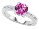 Original Star K Round 7mm Simulated Pink Topaz Engagement Ring