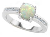 Original Star K Round 7mm Genuine Opal Engagement Ring